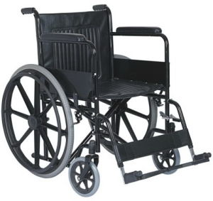Black Powder Coating Steel Folding Wheelchair (FY972B) pictures & photos