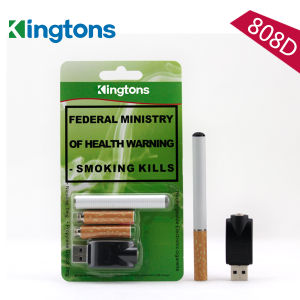 300 Puffs Electronic Cigar 808d with Disposable 2 Cartridges pictures & photos