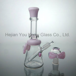 Beautiful Bow Piece DAB Rig Recycler Oil Rig Waterpipe Hookah Glass Smoking Pipes pictures & photos