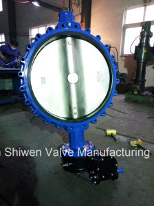 Ductile Iron Lug Type Butterfly Valve with Gear pictures & photos