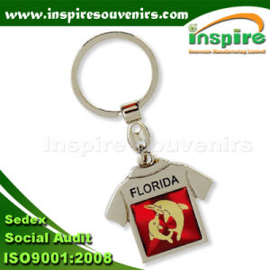 T-Shirt Shaped Zinc Alloy Keyring with CD Layer Sticker (SK701CD) pictures & photos