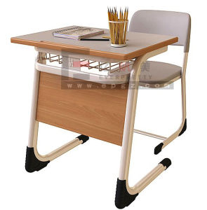 School Furniture Wooden College Fixed Student Desk and Chair pictures & photos