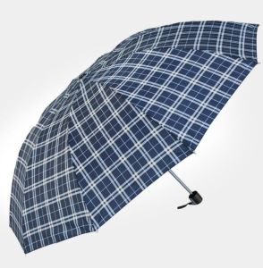 21′′ 8k Plaid Fold up Umbrella Bussiness 3 Folding Auto Open Folding Umbrella pictures & photos