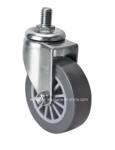 "Edl Mini 2.5"" 35kg Threaded Swivel PU Caster 26325-73"