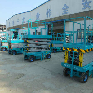 10m 500kg Mobile Scissor Lift/Hydraulic Lift/Hydraulic Ladder Lift pictures & photos