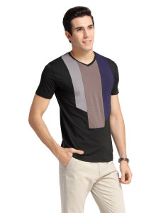 100% Cotton V Neck Mens Cool Tshirt Designs pictures & photos