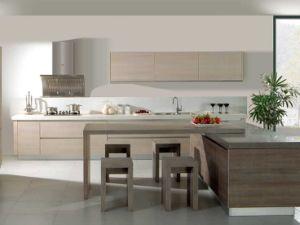 Kitchen Furniture Melamine Kitchen Cabinet with PVC Cabinet Door (zc-063) pictures & photos
