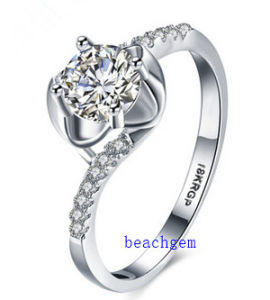 Hot Sell Jewelry- Cubic Zirconia Brass Rings (R0837)