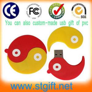 Custom Silicone PVC Rubber USB Flash Drive with Your Shape Your Design