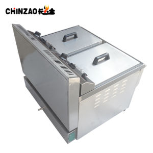 34L Two Tanks Stainless Steel Commercial Gas Deep Fryer pictures & photos