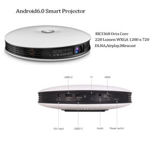 Octa Core LED DLP Mini Smart Projector with 220 ANSI Lumens and 2g RAM, 32g ROM pictures & photos