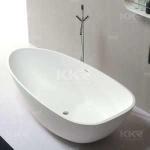 White Matte Acrylic Resin Freestanding Bathtubs pictures & photos