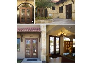 Modern and Simple Wrought Iron Glass Door pictures & photos