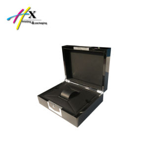 Accept Custom High-Glossy Black Lacquer Wood Watch Box with Logo pictures & photos