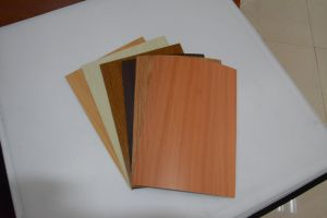 HPL Countertop/Wood Grain Laminate Kitchen Cabinets pictures & photos