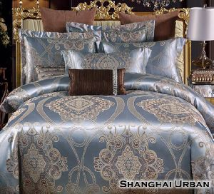 Tencel Jacquard Cotton Luxury Duvet Cover Bedding Set pictures & photos
