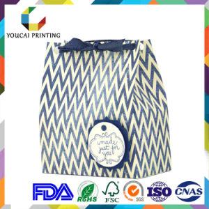 Coated Waterproof Graceful Paper Ladies Bag with Flower Pattern