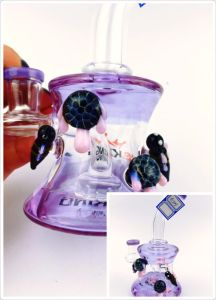 Wholesale Grace Glass Oil Rig Recycler Bubbler with Art Sculptures pictures & photos