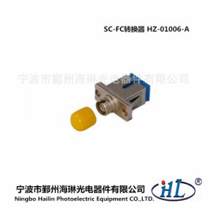 Sc-FC Sm/PC Fiber Optic Hybird Adapter with Copper Materials pictures & photos
