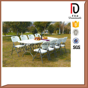 Portable Outdoor Garden Furniture HDPE Plastic Rectangle Camping Folding Table (BR-117) pictures & photos