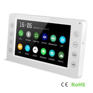 7 Inches Home Security Intercom Video Door Phone Interphone with Memory pictures & photos
