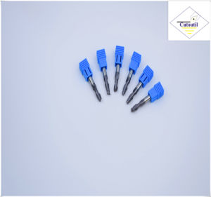 Cutoutil HRC55 Tialn Coating R1.0*4*4D*50L*2f/4f for Steel CNC Machining Part   Ball Nose End Mills pictures & photos