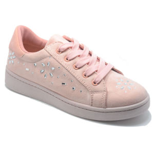 New Design Suede Classical Leisure Women Rubber Injection Lady Shoes pictures & photos