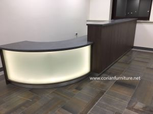 Solid Surface Wood Counter Desk Office Table pictures & photos