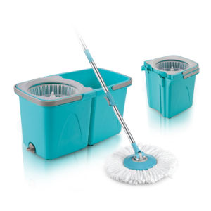 Sunki New Design Twin Bucket Spin Mop with Self Spin Mop Head System pictures & photos