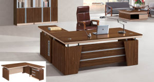 Walnut Wooden Furniture L Shape Office Table pictures & photos