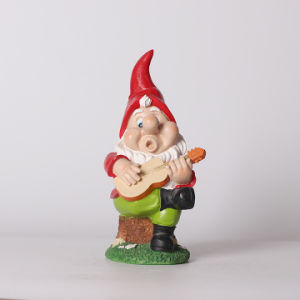 Resin Gnome Playing Guitar Garden Decor pictures & photos
