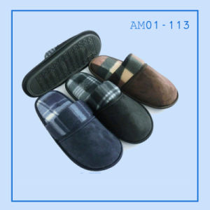 Hot Sale Men Home Soft Slipper Winter pictures & photos