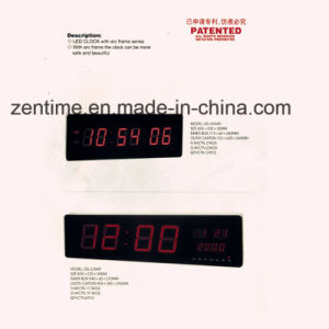 Large Size Red Emitting LED Wall Digital Clock for Home and Office pictures & photos