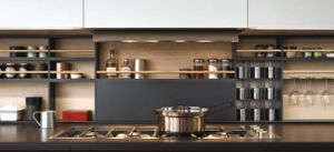 Round Shaped Real Wood Kitchen Bar Cabinet pictures & photos