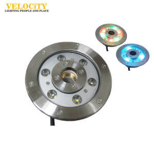 24V 6W/12W Remote Control Tricolor Stainless Steel IP68 LED Fountain Light