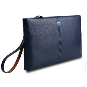 Men Business Envelope Genuine Leather Clutch Bag Cowhide Travel Wallet pictures & photos