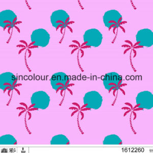 80%Nylon 20%Spandex Sweet Pink Palm Printing Fabric for Swimwear pictures & photos