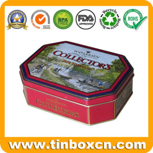Octagonal Gift Tin Box Packaging for Metal Tin Container pictures & photos