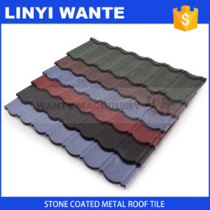 Competitive Price Metal Roof Tile/Stone Coated Metal Roof Tile Form Linyi Wante pictures & photos