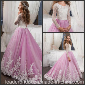 Purple Ball Junior Bridesmaid Gowns Tulle Flower Girls Dresses Z1056 pictures & photos