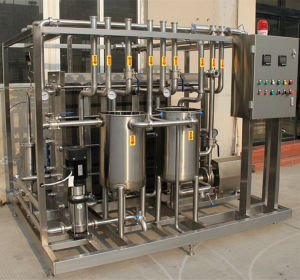 Stainless Steel Semi Automatic Uht Flash Pasteurizer with PLC Control pictures & photos