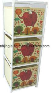 Gsa6007 Non Woven 3 Layers Decorative Drawer Storage Bin
