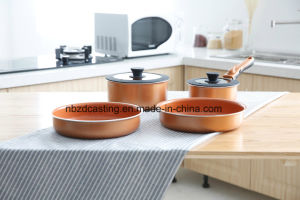 Non Stick Cookware Set with Removable Pan Handle pictures & photos