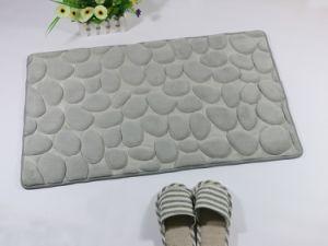 Cobblestone Shape Coral/Flannel Sponge Floor Mat 2708 pictures & photos