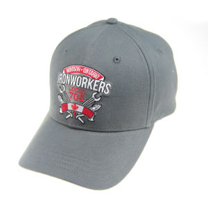 Custom Leisure Cap Gray 6 Panles Summer Cap Embroidery Baseball Hats pictures & photos