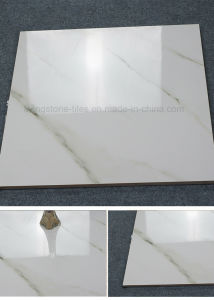 Carara White Polished Glazed Marble Stone Floor Tile for Building Material pictures & photos