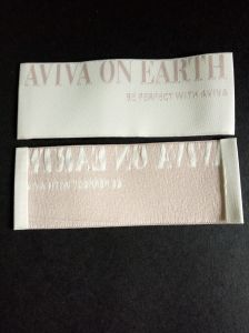 Endfolded Clothing Damask Quality Woven Label pictures & photos
