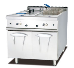 Gas Deep Fryer with Cabinet (2-Tank, 4- Basket) pictures & photos