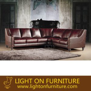 High Grade Classical L Shape Leather Sofa (L076) pictures & photos