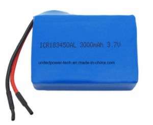 Li-ion Lithium Ion 183450 Li-Polymer Lithium Polymer 3.7V 3000mAh Battery for Power Tool pictures & photos